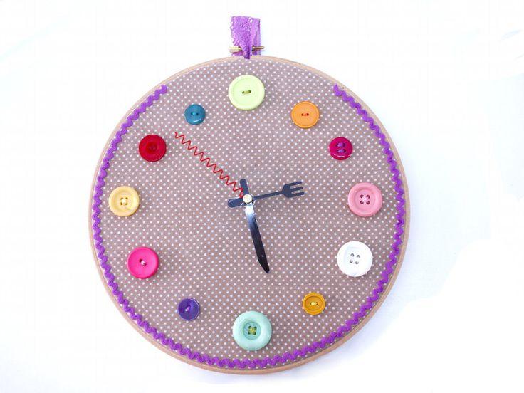 17 mejores ideas sobre relojes para cocina en pinterest - Hacer un reloj de pared ...