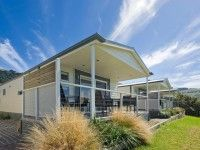 ocean-view-villa-front-accommodation-apollo-bay.  villa, ocean spa cabin, spa cabin, deluxe cabin, ensuite cabin, ensuite caravan site, powered site concrete slab, powered site full grass, unpowered site. #big4apollobaypiscesholidaypark #greatoceanroad #apollobay #camping #caravanning