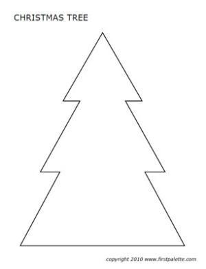 christmas tree pattern printable - Google Search