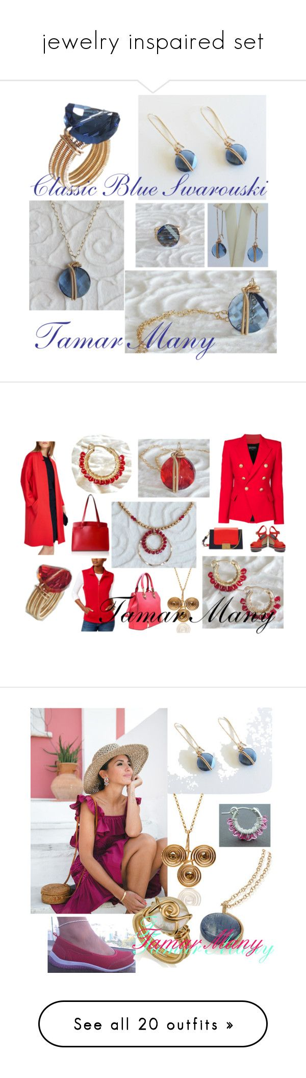 """""""jewelry inspaired set"""" by tamarmanyjewelry on Polyvore featuring Phase Eight, Balmain, Karen Scott, Mulberry, Lodis, modern, Topshop, red, jewelry and lips"""