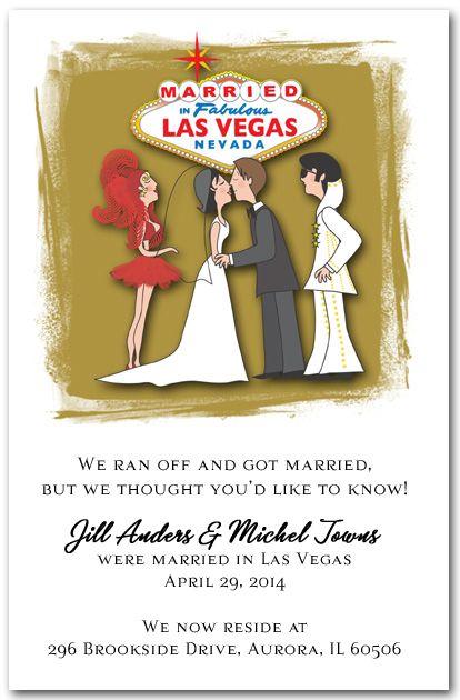 234 best Vegas Wedding whoop whoop images on Pinterest Elopement - invitation wording for elopement party