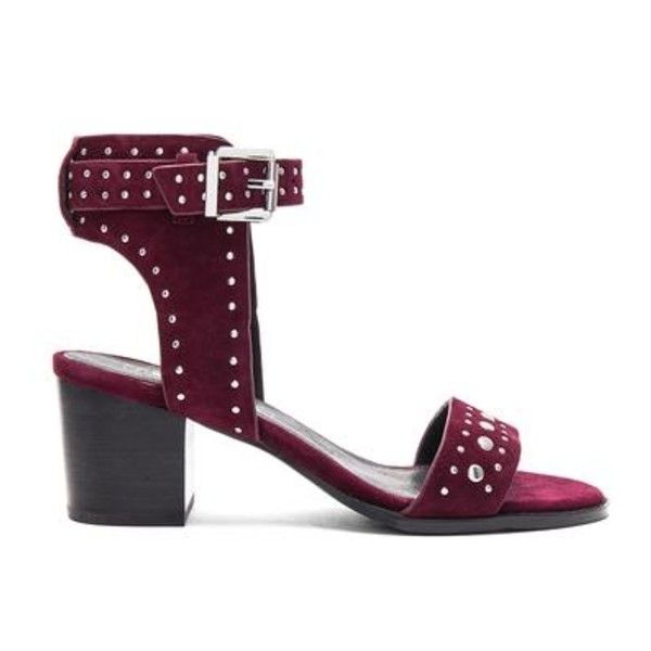Porter Heel (675 RON) ❤ liked on Polyvore featuring shoes, pumps, burgundy shoes, synthetic shoes and burgundy pumps