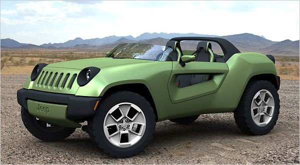 Jeep Renegade Concept Detroit Auto Show Green Dreams In The
