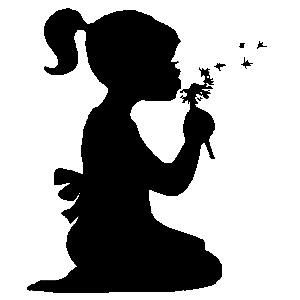 Miss blowing flower