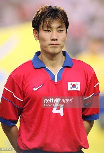 Portrait of Song Chong Gug of Korea Republic before the FIFA Confederations Cup 2001 match against Australia played at the Suwon World Cup Stadium in...