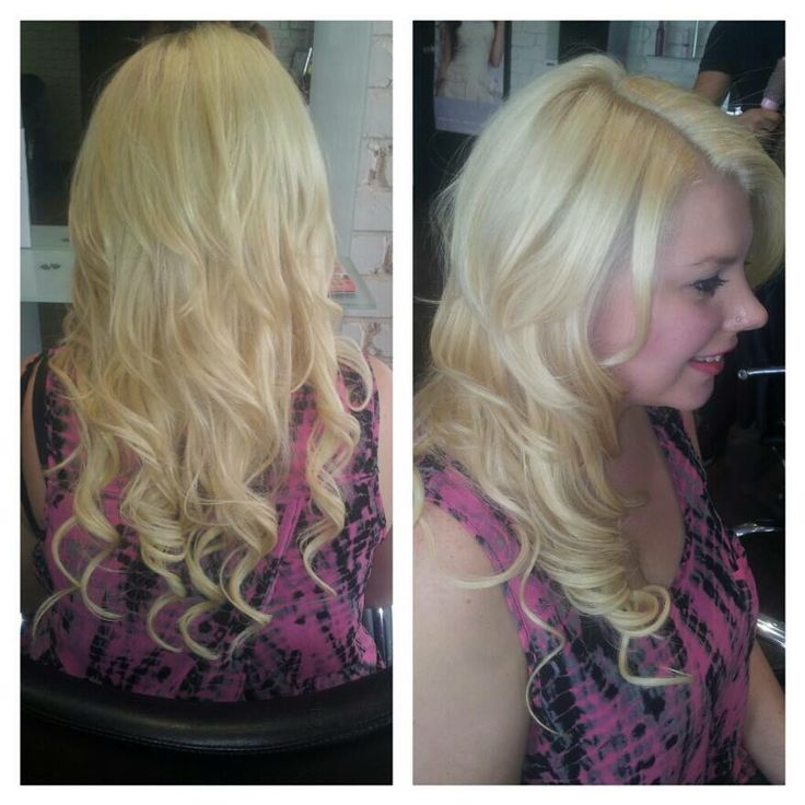 Full Head of Tape In Human Hair Extensions! Perfect blend!