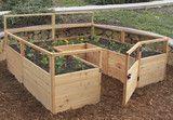 OLT Raised Garden Bed 8'x8' #diygardenshed #raisedgardenbeds #gardensheddesigns