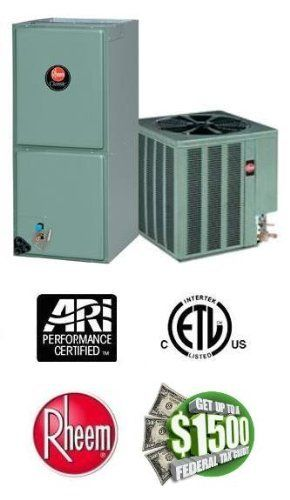 3 Ton 16 Seer Rheem Air Conditioning System - 14AJM36A01 - RHPNHM3624JC by Rheem. $2539.00. Single Stage Air Conditioner with Variable Speed Blower (R-410A) - Cooling Only split air conditioning system. Includes condenser and air handler. Not a heat pump. Supplimental electric heat strips can be added to air handler to provide electric heat (sold seperately).