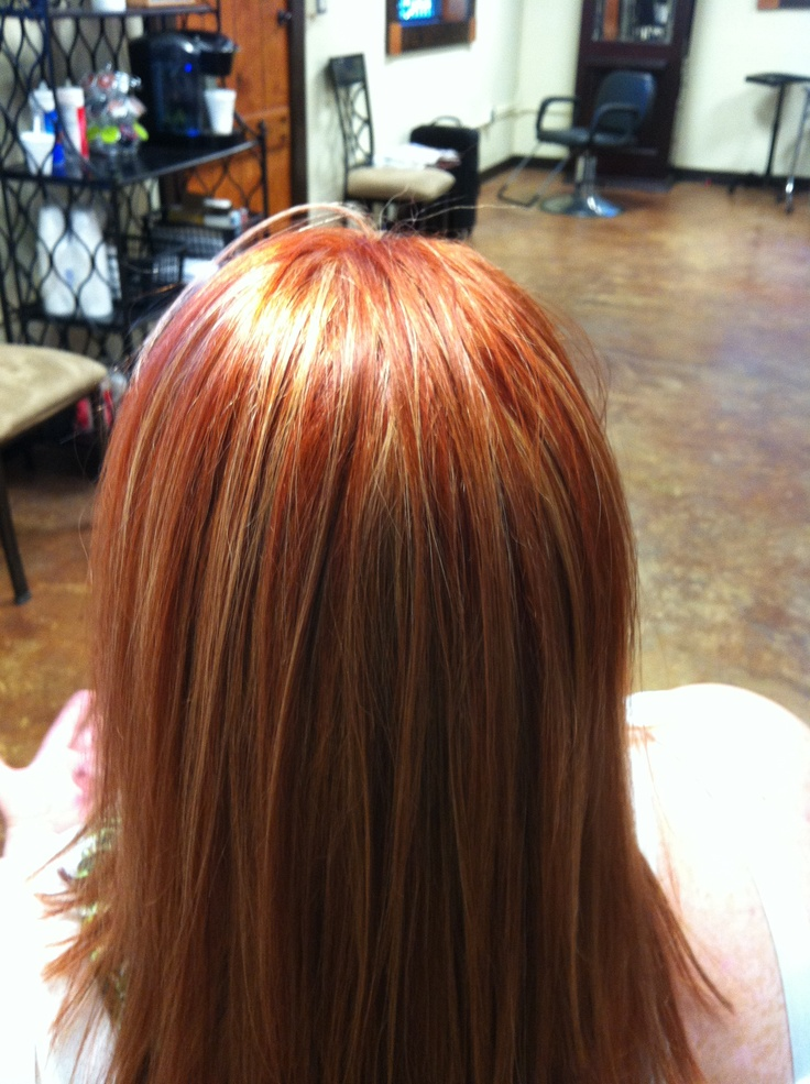 Red Copper Hair With Blonde Highlights Courtesy Of T Duke
