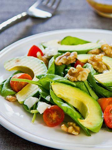 Salade aux pousses d'épinards