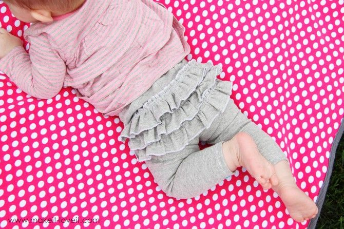 DIY Ruffle Bum or Attached Skirt Leggings...OMG my baby Girl will have every color imaginable!!