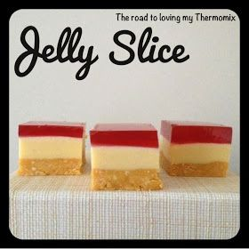 The road to loving my Thermomix: Jelly Slice