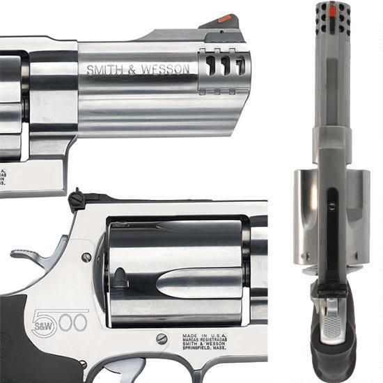 """S&W 500 Revolver .500 S&W Magnum 4"""" Barrel 5 Rounds Synthetic Grip Satin Finish"""