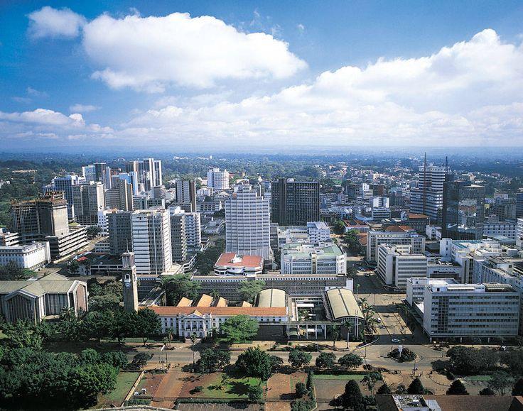 african cities   Nairobi, Kenya's capital city, East Africa