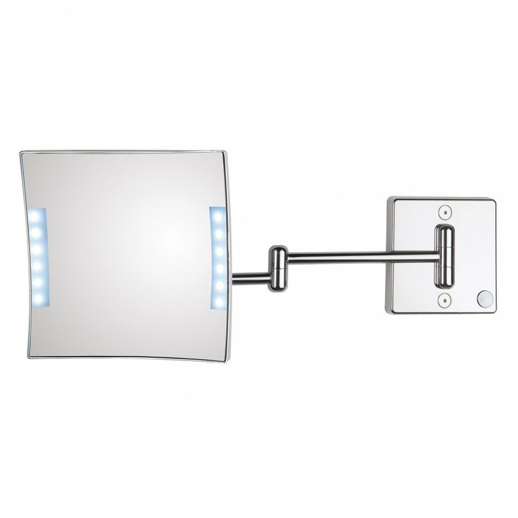 exceptional modern highend luxurious designer wall mounted square faced hardwired bathroom magnifying