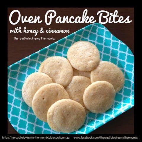 Oven Pancake Bites with Honey and Cinnamon