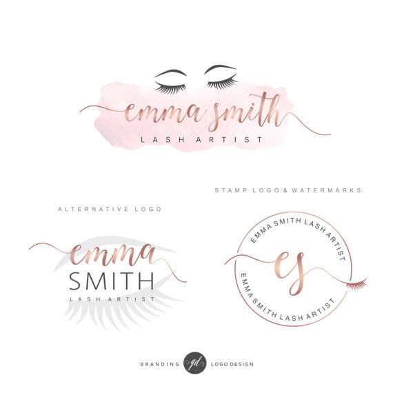 eye lash logo design lash extension salon boutique by gdlogodesign - Nail Salon Logo Design Ideas