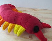 plush millipede   Red Centipede Plush, Toy Centipede, Insect Plush, Bug Plush,