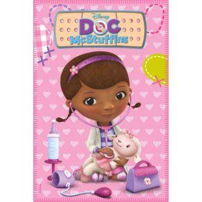 Filtar - Disney - Doktor Mcstuffins Fleecepläd - Rosa