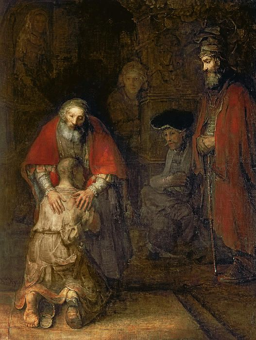 Rembrandt van Rijn (1606 - 1669): The Return of the Prodigal Son, c. 1668, oil on canvas, 262 × 205 cm   The State Hermitage Museum, Saint Petersburg