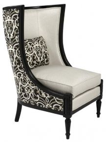 Another Modern Take On The Wingback Chair Love Use Of Diffe Fabrics