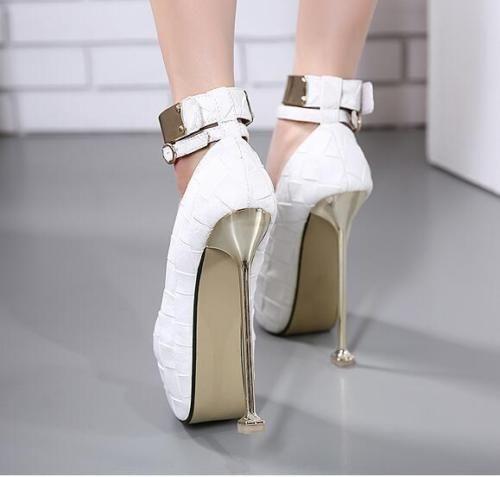 Sexy-16cm-High-Heel-Womens-Metal-Platform-Stilettos-Pumps-Ankle-Strappy-Shoes-SZ