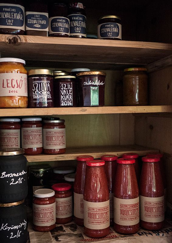 Marry to a typographer and enjoy it! Graphic design in the pantry...