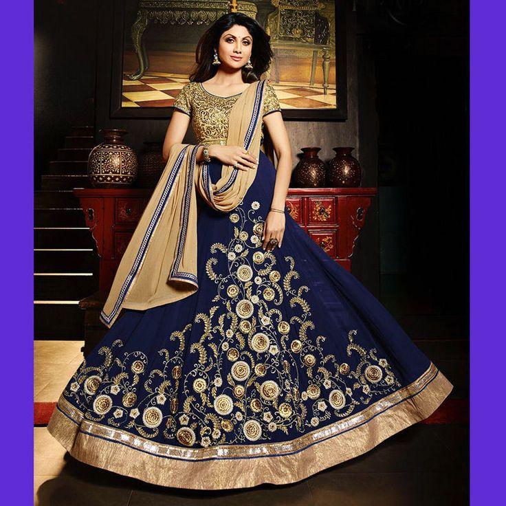 anarkali shalwar kameez indian designer bollywood pakistani wedding party gowns #Handmade #salwarkameez #Festive