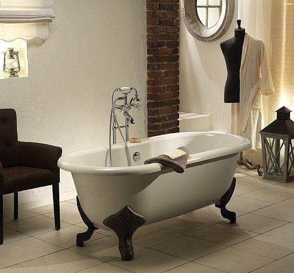 Les 25 meilleures id es de la cat gorie baignoire sur - Salle de bain avec baignoire sur pied ...