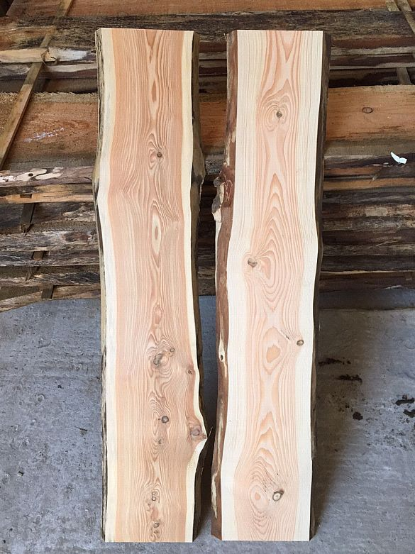 Baumscheibe, Brett, Bohle, rustikal, unbesäumt Lärche, Handwerk, Massivholz200cm kaufen bei Hood.de