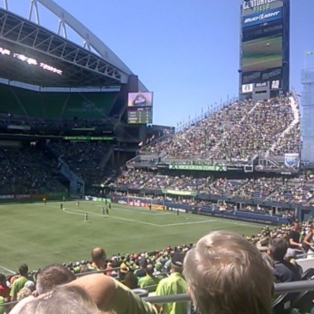 Today at #fcseattle #sounders. Nice day for a game and the views were amazing.