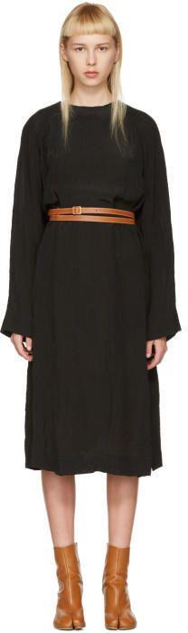 Loewe Black Belted Tunic Dress