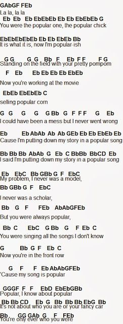 Flute Sheet Music: Popular Song