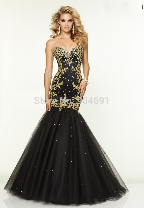 black and gold prom dresses 2015 - Google Search