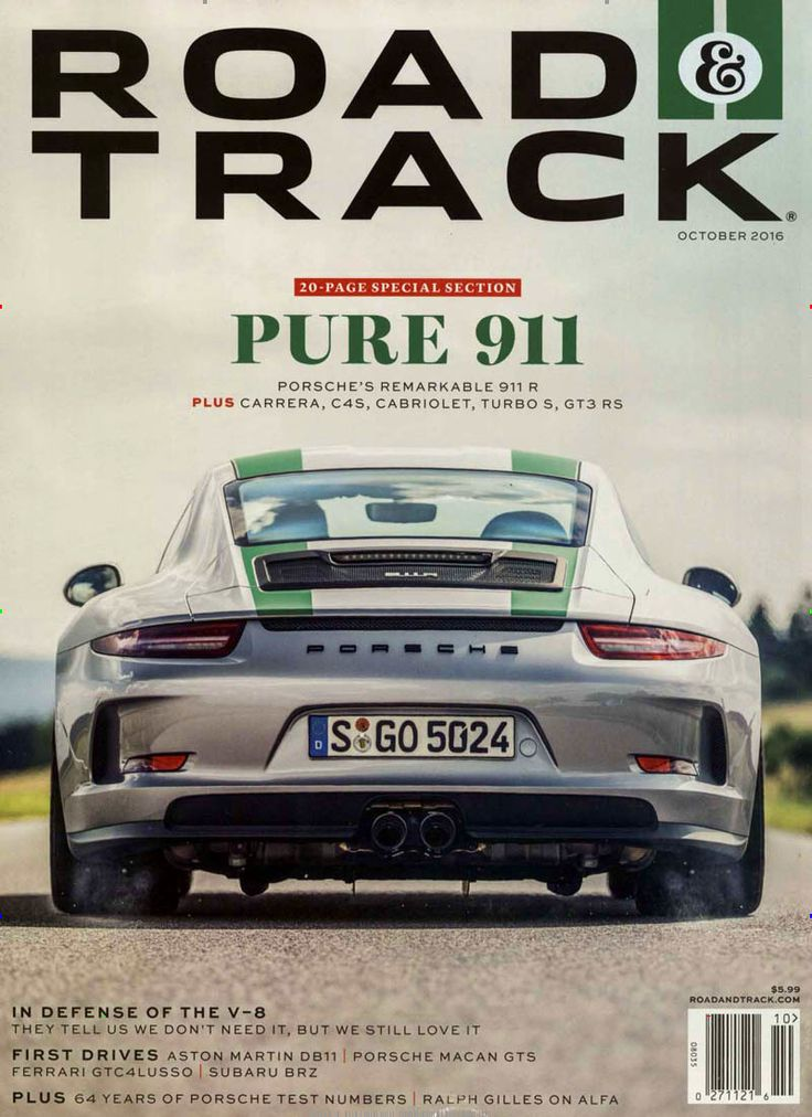 PURE 911. Gefunden in: Road and Track USA, Nr. 10/2016