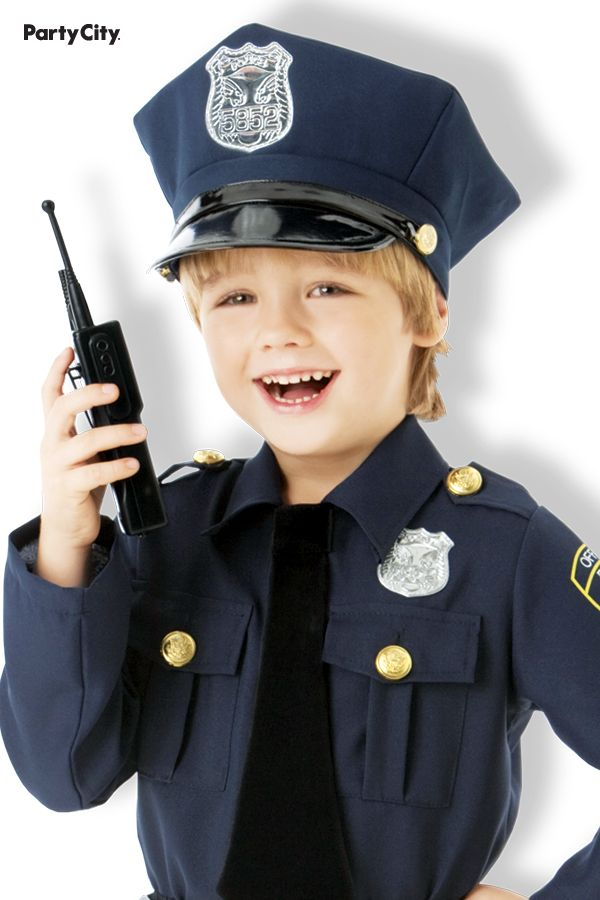 Boys Classic Police Officer Costume Police Officer Costume Police Officer Police Hat