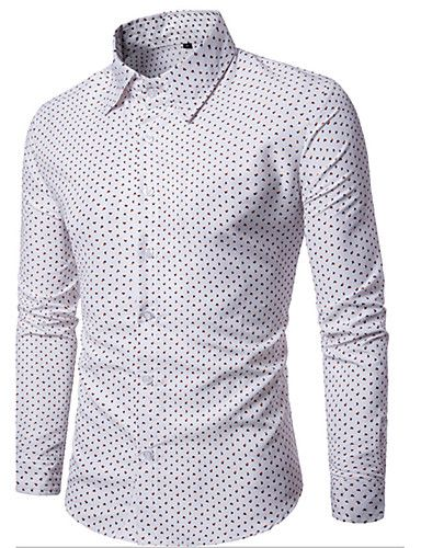 a32af81794 Masculino Camisa Social Para Noite Casual Sensual Vintage Simples Primavera  Outono