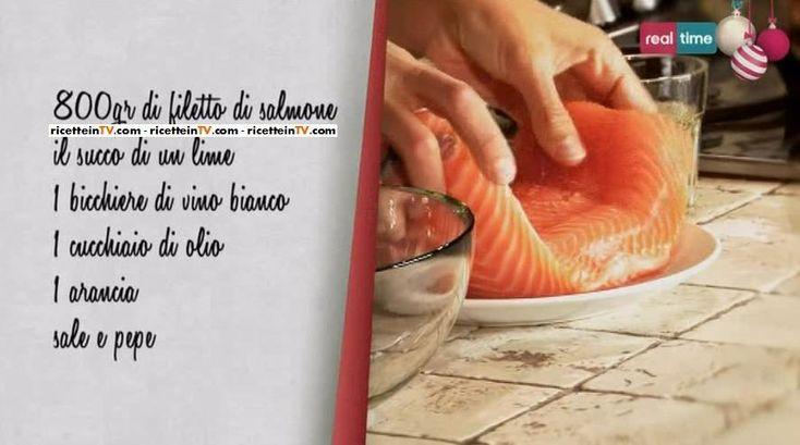 Merry Christmas con Csaba, ricette: salmone all'arancia e vino bianco.