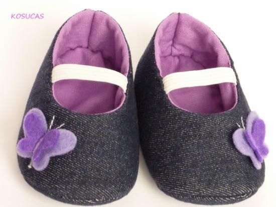zapatitos de tela on Pinterest   Zapatos, Bebe and Patrones