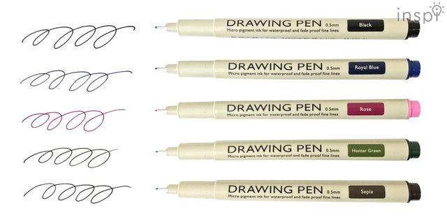 全5色のコミックペン「Drawing Pen」