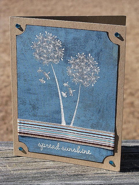 love the blue and kraft mix