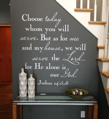Thousands of Christian Wall Decals, and this one is the most popular! If you would like to bring the Lord into your home, literally speaking from your walls, check out this wall decal website!