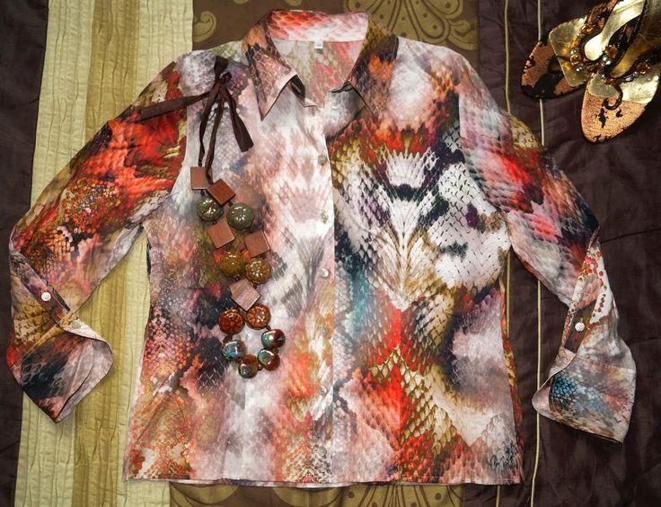 Oryginalna bluzka koszulowa skóra węża 40-42 (6117515071) - Allegro.pl - Więcej niż aukcje.
