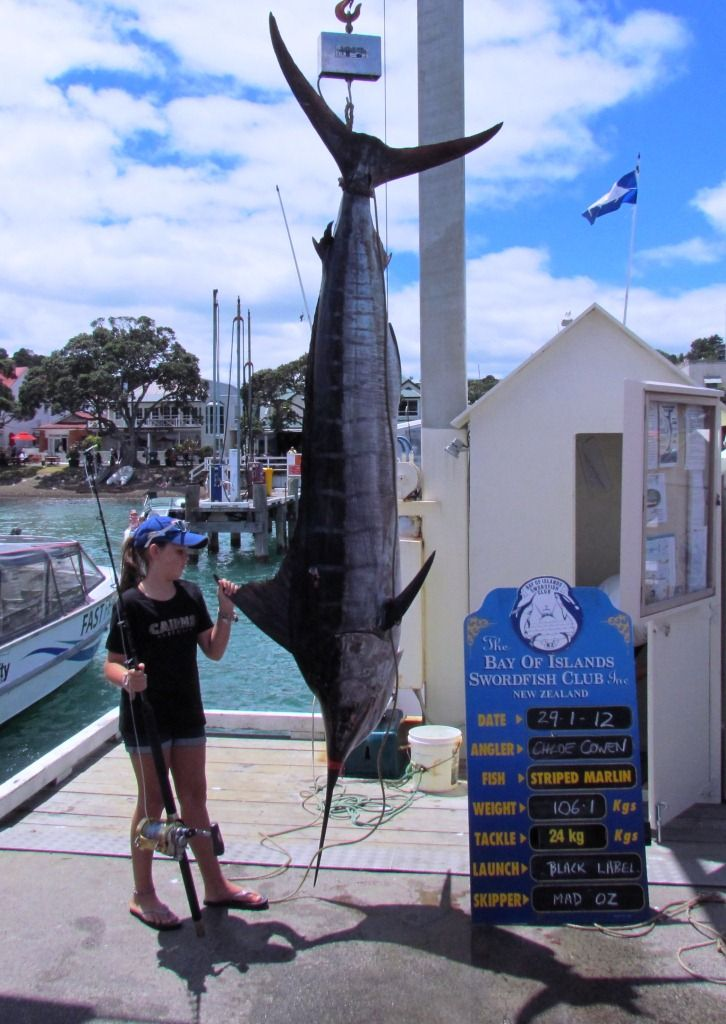 Young angler weighing in at Russell wharf