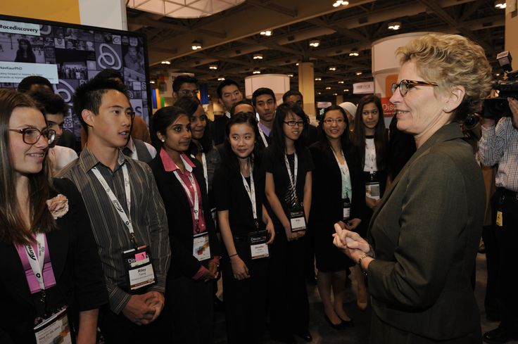 Finalists got to meet the Premier of Ontario, Kathleen Wynne at Discovery.