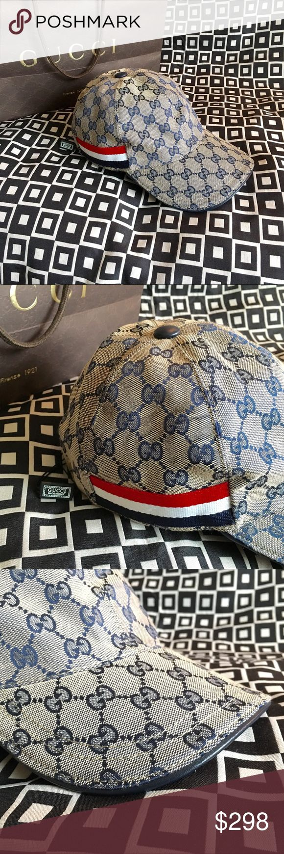 🎉🎊✨GUCCI GG CANVAS WEB HAT!!!✨🎊🎉 Gucci GG Canvas Baseball Cap!!!  Unisex....For Man or Woman!!!  Cotton lining!!!  Adjustable hook-and-loop closure!!!  Size - M!!!  HIDE DETAILS Made in Italy!!!                   Ignore: guccissma leather monogram web tiger bee embossed panther wool cable knit blooms supreme print angry cat ufo dragon Gucci Accessories Hats