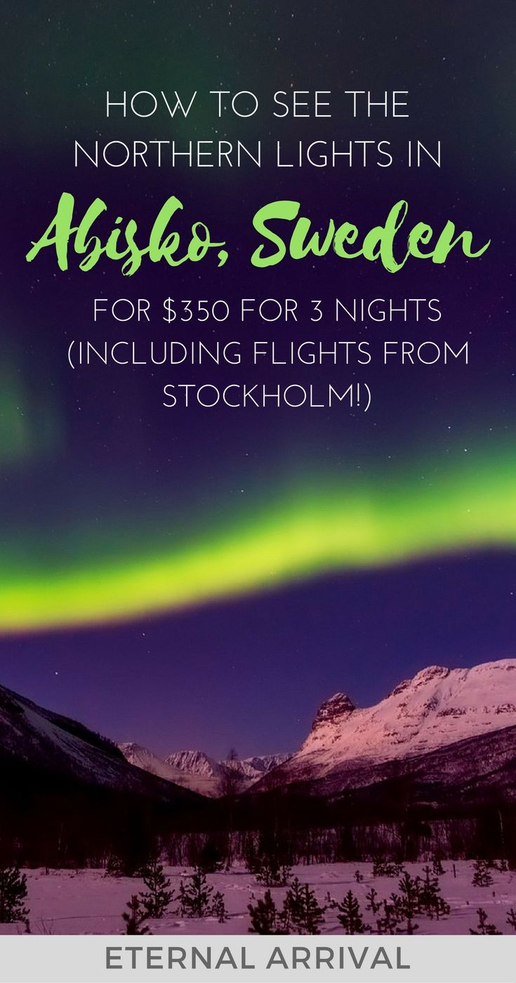If the Northern lights are on your bucket list, there's no cheaper place to see them than in Abisko, Sweden. Complete budget guide & details for a 3 day trip to Abisko in Swedish Lapland to see the Northern lights, including how to get there from Kiruna.