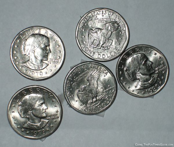 Some of the Susan B. Anthony coins I found in pocket change.