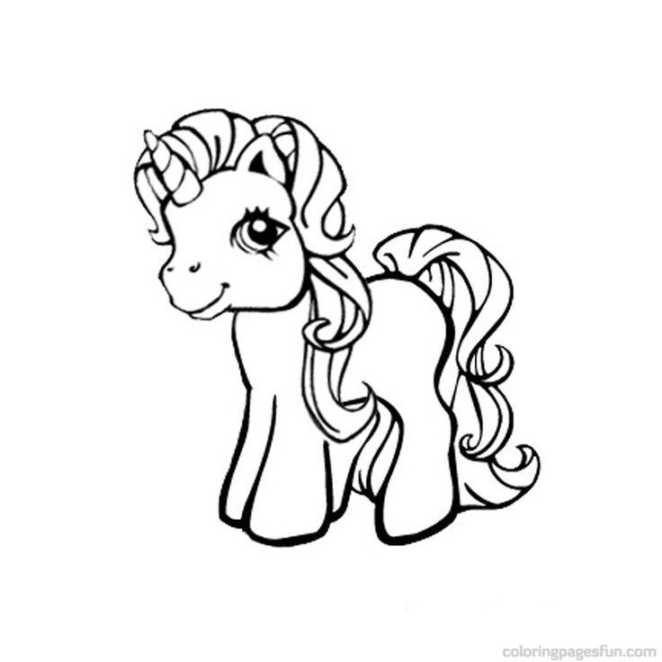 my little pony unicorn coloring pages coloring pages - Art Nouveau Unicorn Coloring Pages