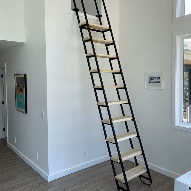 10ft Loft Ladder Librarian Free Shipping To Your Door Etsy In 2020 Loft Ladder Ladder Popular Interior Design